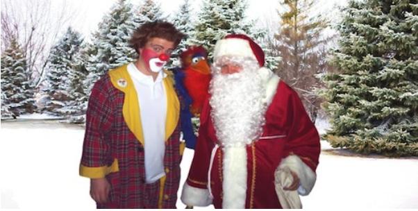 Clown Clownikuss und der Weihnachtsmann